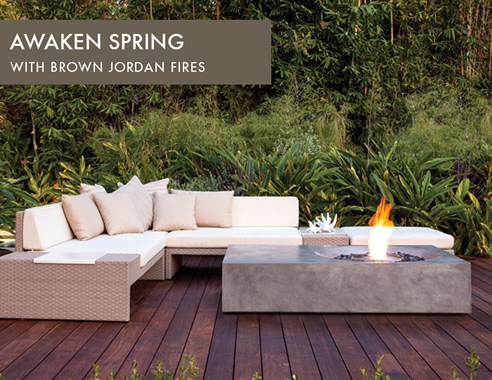 Fire tables and outdoor fireplaces ecosmart fire for Brown jordan fires
