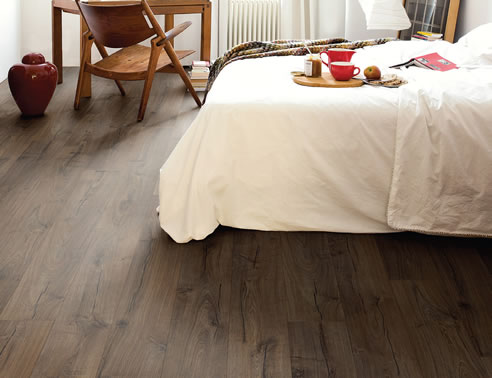 brown oak timber laminate