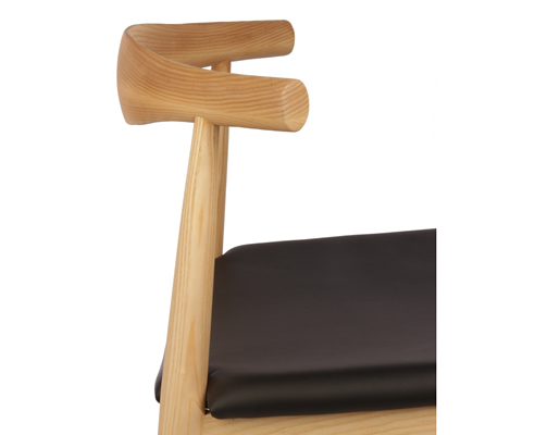 beech frame elbow chair