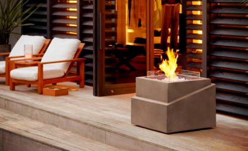 Step Fire Pit outdoor fire by EcoSmart Fire