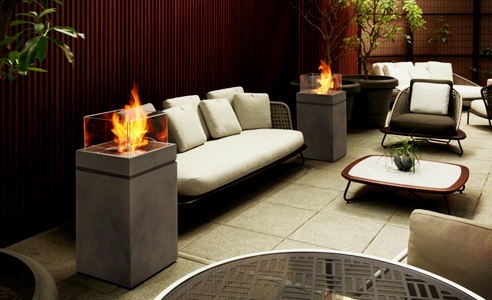 Tower outdoor fire by EcoSmart Fire