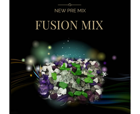 fusion mix coloured glass