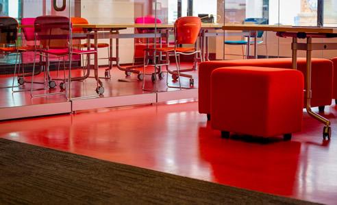 Vibrant Flooring With Comcork Walkeasy Safety Flooring