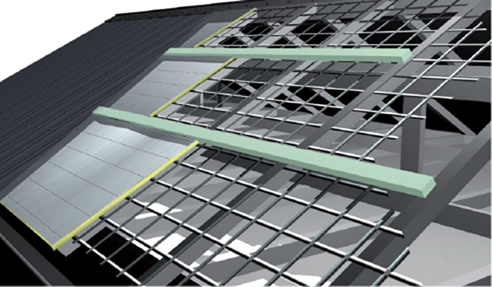 Foamex PurlinK polystyrene roof insulation