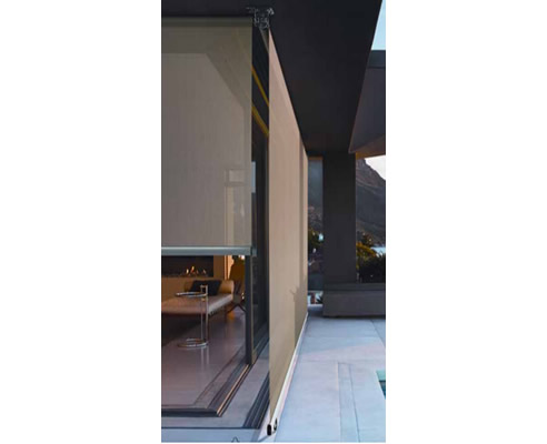Straight Drop Exterior Roller Blinds