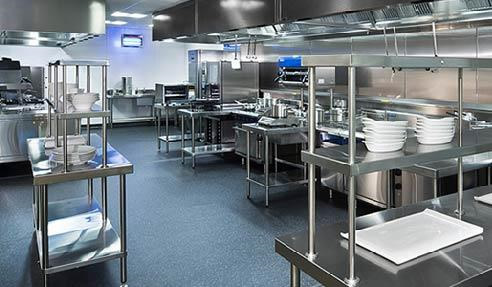 stainless steel commercial kitchen cabinetry