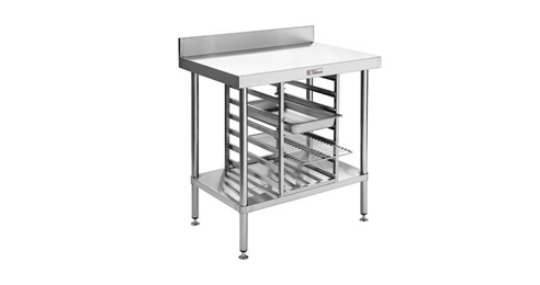 stainless steel freestanding bench unit