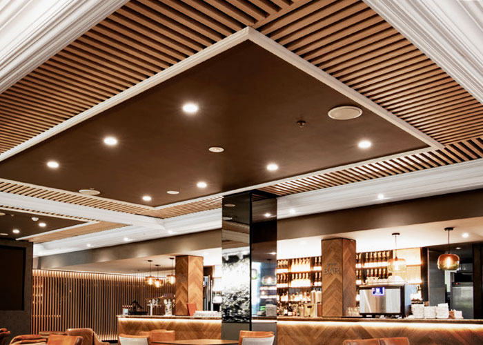 Modular Slatted Timber Ceilings - Austratus from Hazelwood & Hill