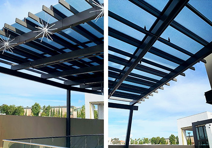 Awnings, Sunshades & Partitions in Custom Colours from Allplastics