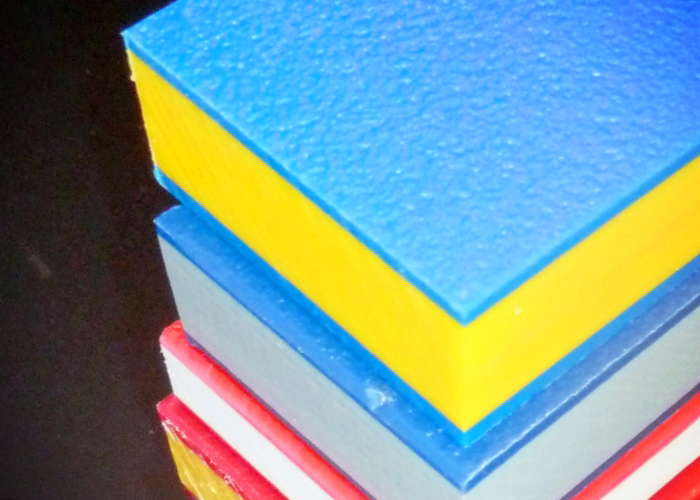 Multi-colour HDPE Sheet Signage from Allplastics