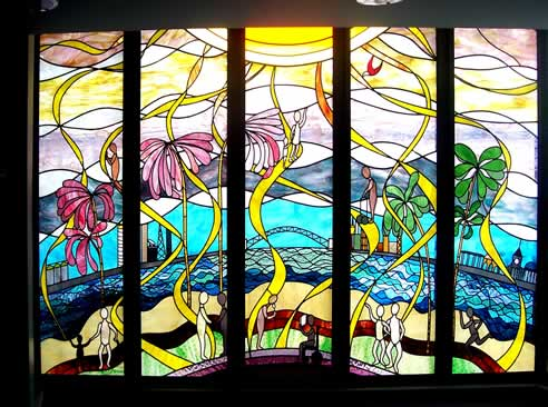 Decorative leadlight glass by spectrum art glass for Architectural glass art