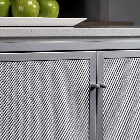 Mitchell Laminates Alimesh Aluminium Frame Cabinet Doors