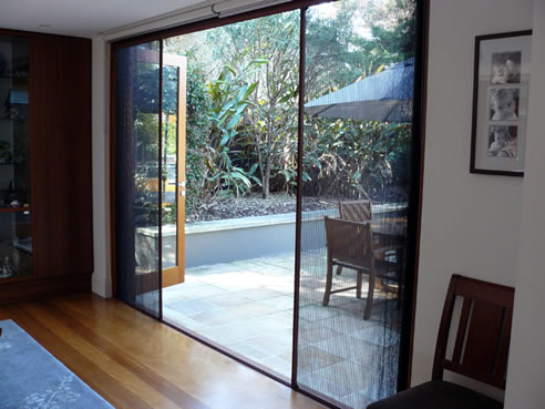 Pleated and retractable insect screens from artilux australia for Retractable bug screen door