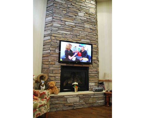 Stacked Cladding Fireplace Design From Craft Stone