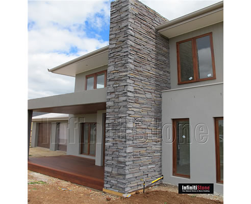 Stone Feature Wall with Stone Cladding from InfinitiStone