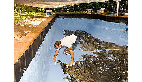 Swimming pool resurfacing with quartzon for Swimming pool resurfacing