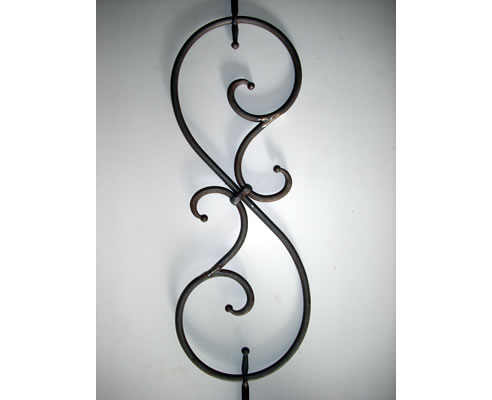 wrought iron scroll work