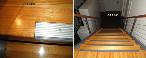 Delicieux Before And After Strip Stair Nosing