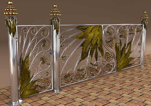 Highly decorative design. Stainless steel & antique brass combination ...