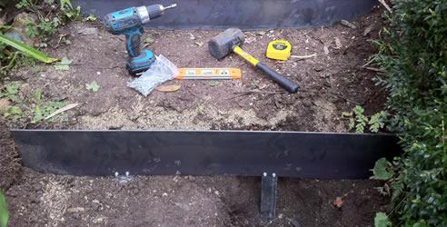 Garden Steps With Steel Edging