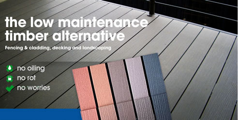 Low maintenance decking timber alternative futurewood for Alternative to decking