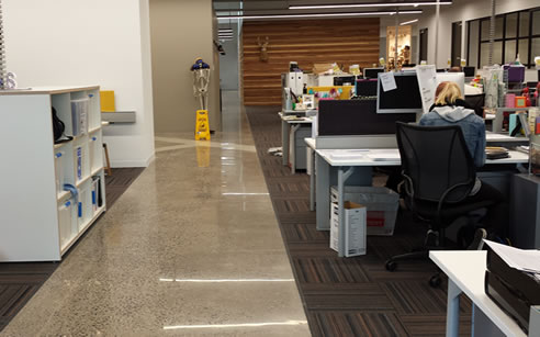 Mechanically Polished Concrete Office Floors From Pro Grind