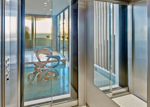Glass door lift easy living home elevators for Easy living elevators