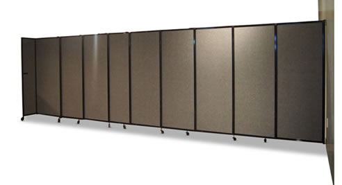 Sliding Wall Mountable Room Divider Portable Partitions