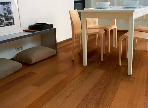 red timber floor