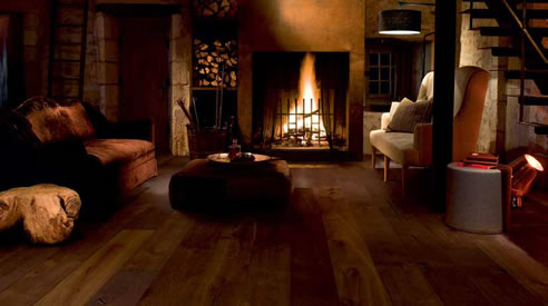 brown timber flooring