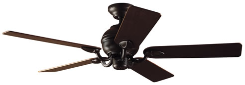 hammered bronze and walnut ceiling fan