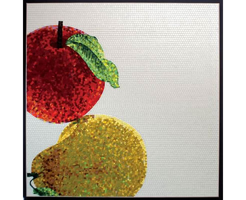 mosaic tile fruit design