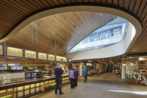 Curved Slatted Timber Ceiling Supawood