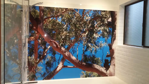 printed acrylic gumtree shower splashback