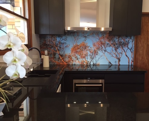 printed kitchen splashback