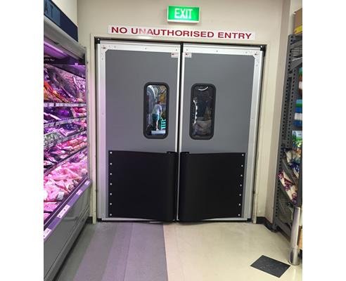 High Impact Thermal Traffic Doors For Retail Premier Doors