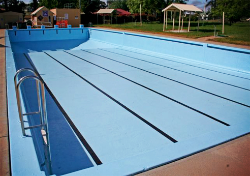 recoated crookwell swimming pool