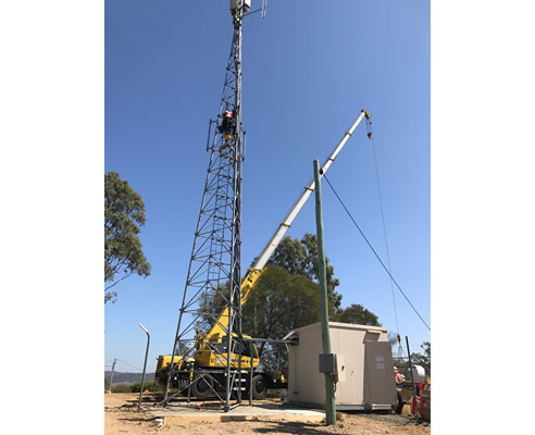 crane for telecommunications tower