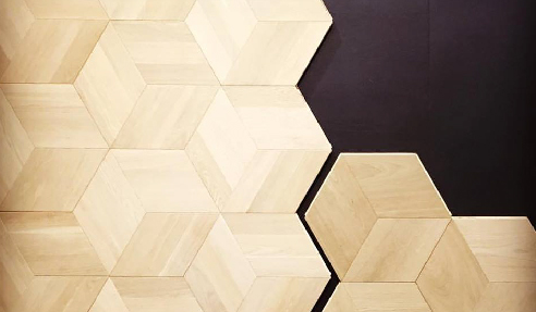Abstract Isometric Engineered Oak Timber Flooring from WRT