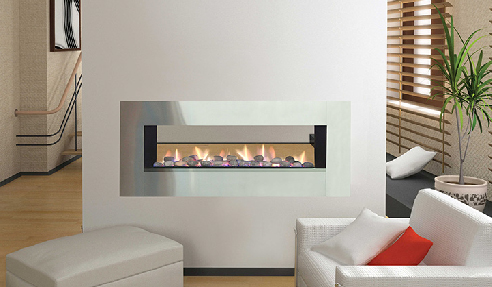 Attractive Lowline Double-Sided Fireplaces