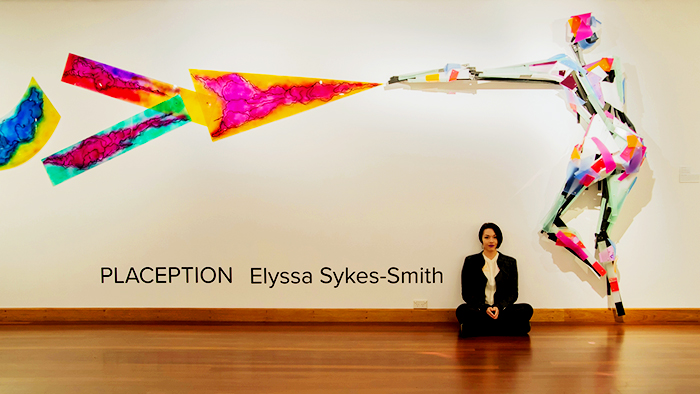 Layered Acrylic Sculpture by Elyssa Sykes-Smith with Allplastics