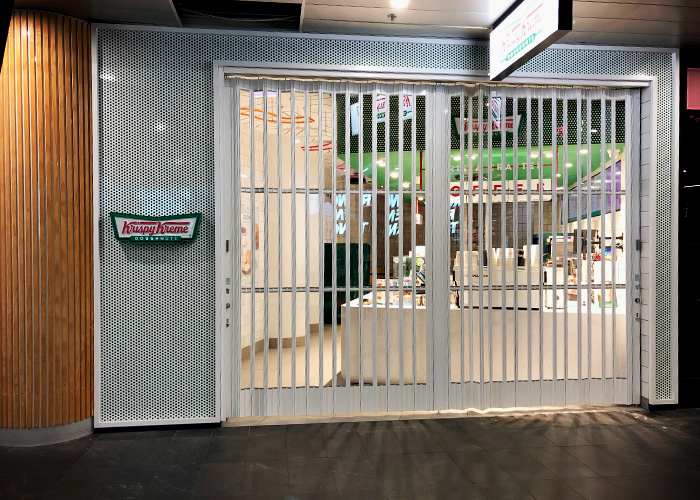Precision Engineered Folding Security Shutters from Trellis Door Co