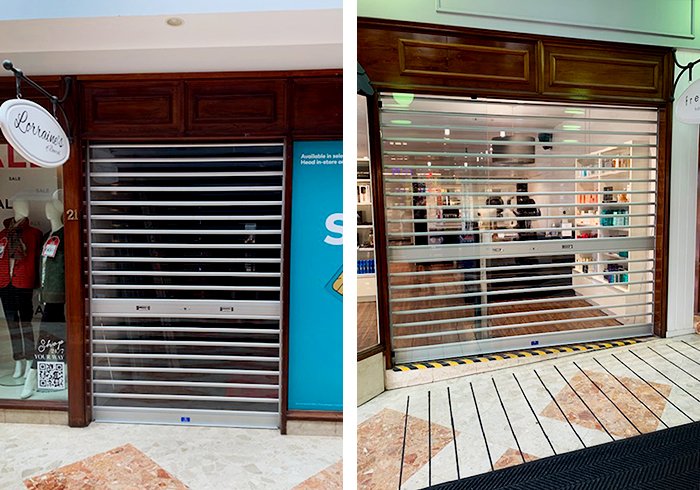 Transparent Roller Shutters for Arcades from ATDC