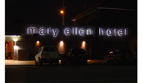 led neon flex for the mary ellen hotel from imaage envirolife. Black Bedroom Furniture Sets. Home Design Ideas