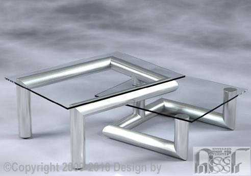 Coffee Table Advanced Stainless Steel Furniture Berkshire