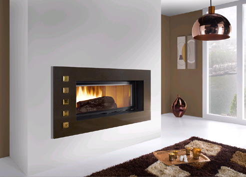 glam fireplace from the design collection from cheminees. Black Bedroom Furniture Sets. Home Design Ideas