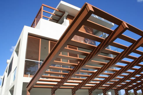 Timber Finish For Aluminium Building Products With Decowood