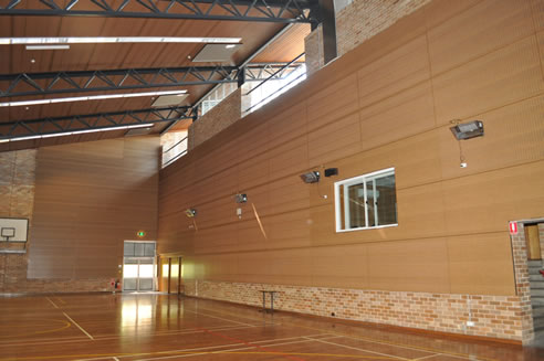 Ceiling lining solution for conversion of a school gym to a multi