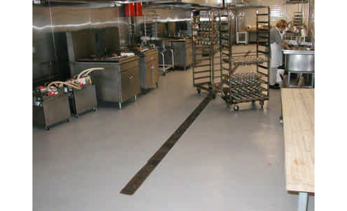 Epoxy floors for commercial kitchens from ascoat contracting for Commercial kitchen flooring epoxy