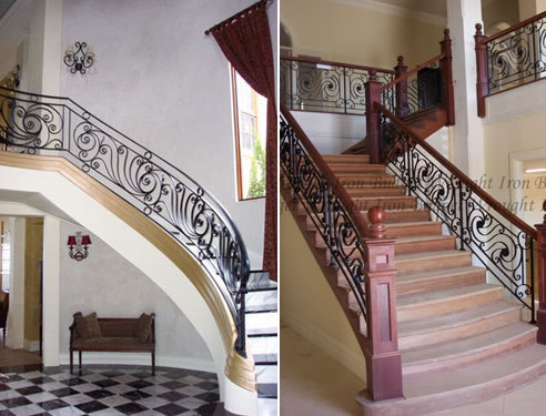 wrought iron staircase balustrades